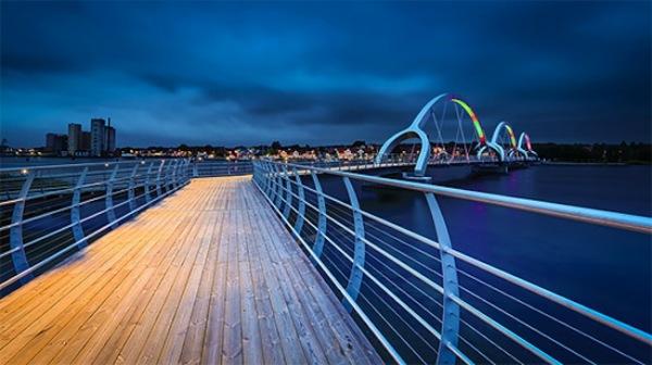 Самый длинный пеший мост от компании Ljusarkitektur.