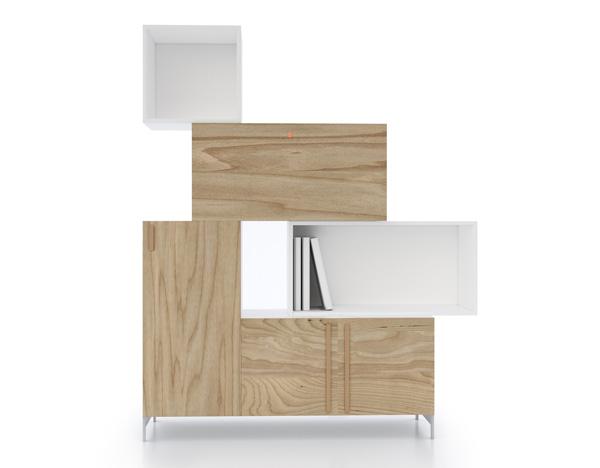 Мебель Тетрис - варианты компоновки и цветового сочетания.