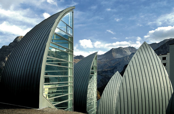 Tschuggen Bergoase. SPA-центр в Альпах.