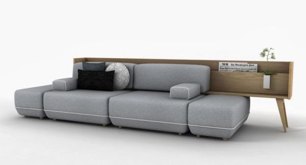 Большой диван для дружной компании от студии Vitale.