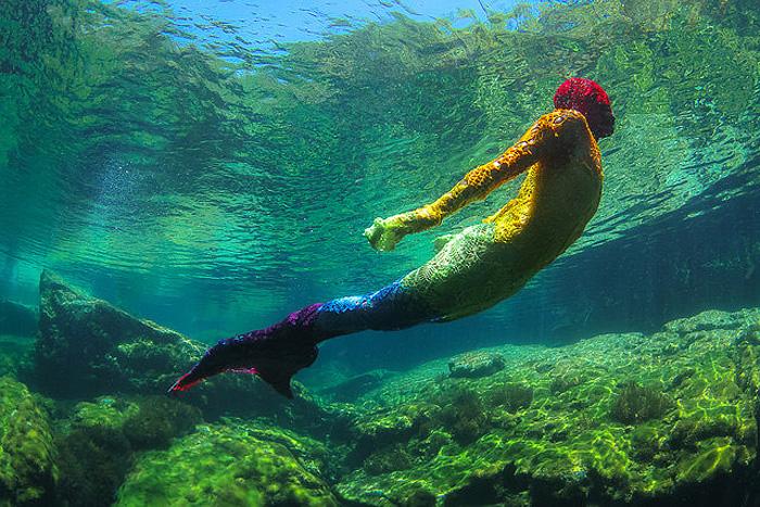 Подводные фантазии в стиле ярнбомбинг.