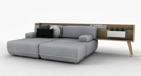 Двуспальная кровать, - комбинация мебели «Two Be».