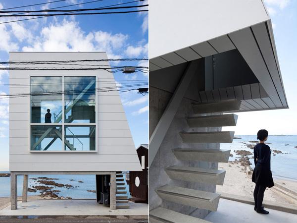 Дом-окно с видом на Фудзи. Япония.