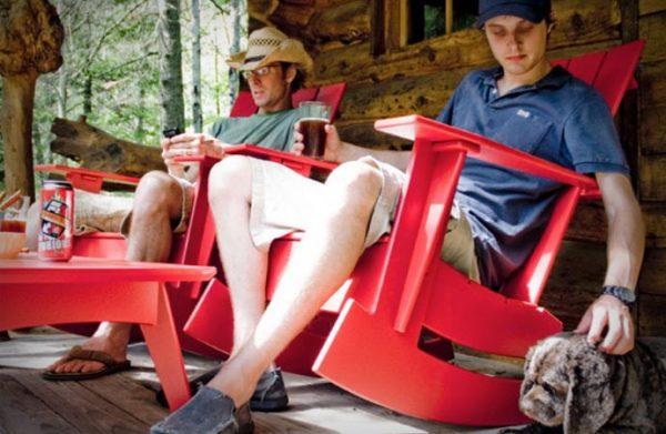 Adirondack rocking chairs - садовое кресло-качалка.