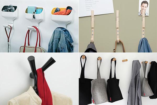 Несколько способов организовать пространство при помощи дизайнерских крючков.