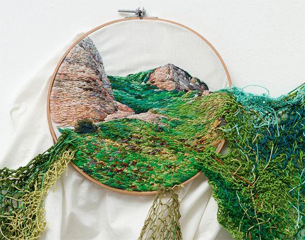Художественная вышивка - музейный экспонат.