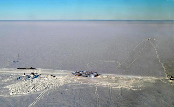 Исследовательская станция в Антарктике.