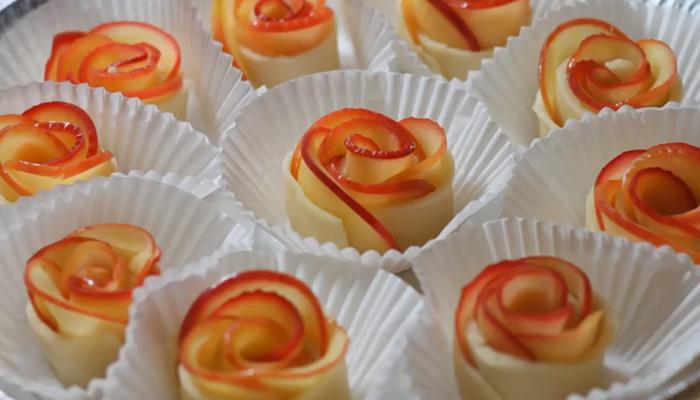 Восхитительные, вкусные розы из яблок.