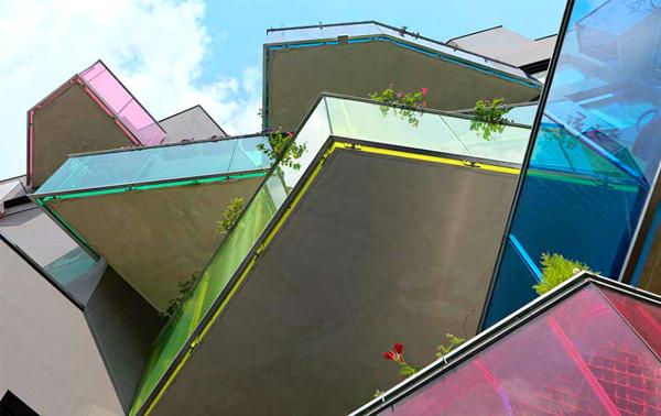 Различные формы балконов.