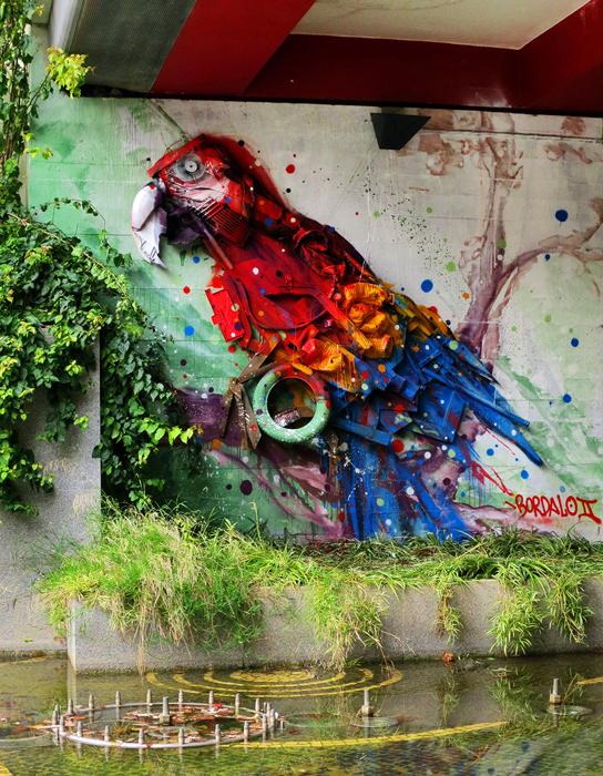 Невероятные животные, созданные Bordalo II из обычного мусора.