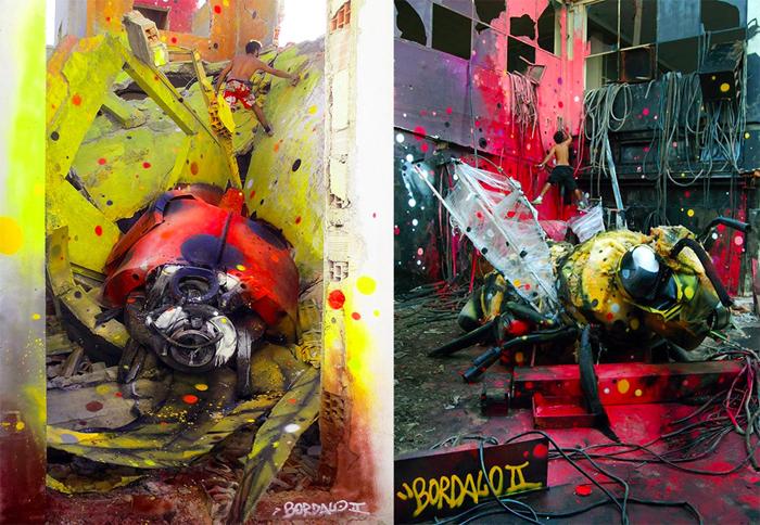 Вторая жизнь мусора в заброшенных зданиях Лиссабона.