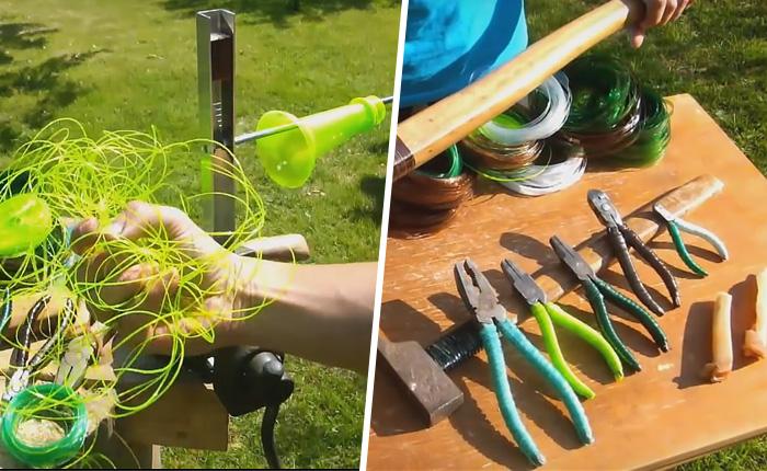 Веревка, которая получается из обычных пластиковых бутылок - универсальное хозяйственное средство.