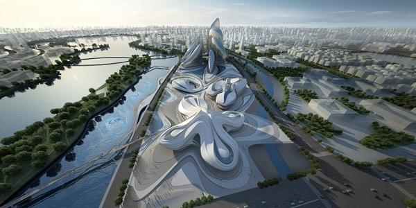 Международный центр культуры и искусств Чанша. Вид сверху.