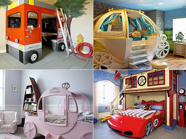 Несколько дизайнерских идей как устроить детское спальное место.