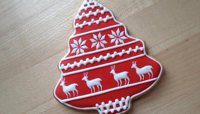 Рождественское печенье в скандинавском стиле.