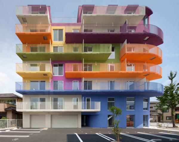 Жилой дом в Нагое. Япония.