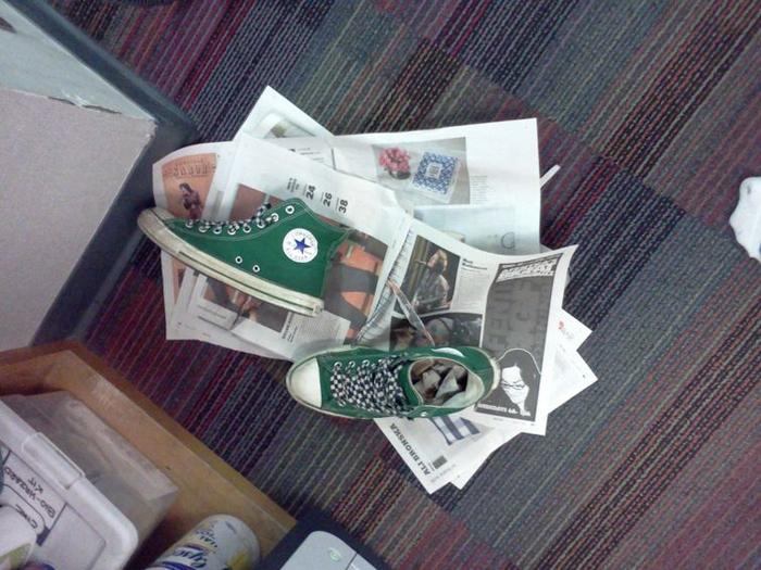 Старые газеты тоже найдут свое применение.