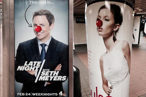 Смешные клоунские носы на американских постерах.