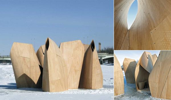 Winnipeg Skating Shelters - укрытия для любителей покататься на коньках в канадском городе Виннипег.
