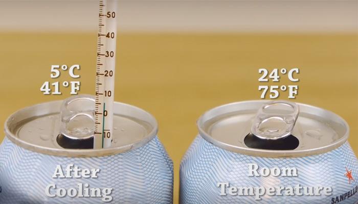 Экспресс-охлаждение напитков. Без холодильника и без разбавления льдом.