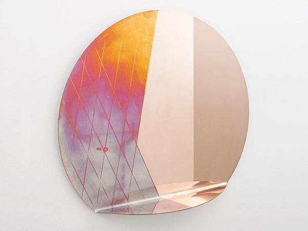 """Медное зеркало """"Iridescent Copper""""."""