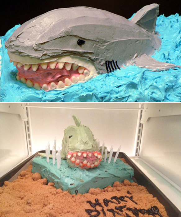 Акулий торт. Ожидание и результат.