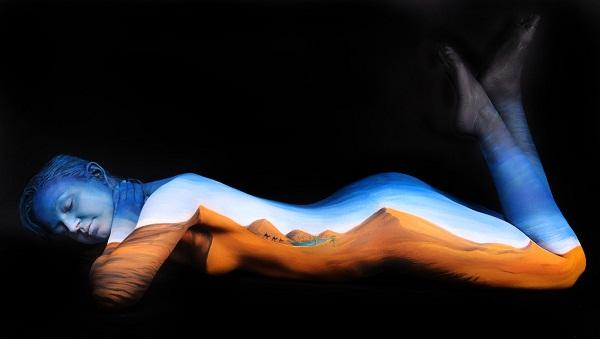 Пустыня. Арт-терапия от Gesine Marwedel.