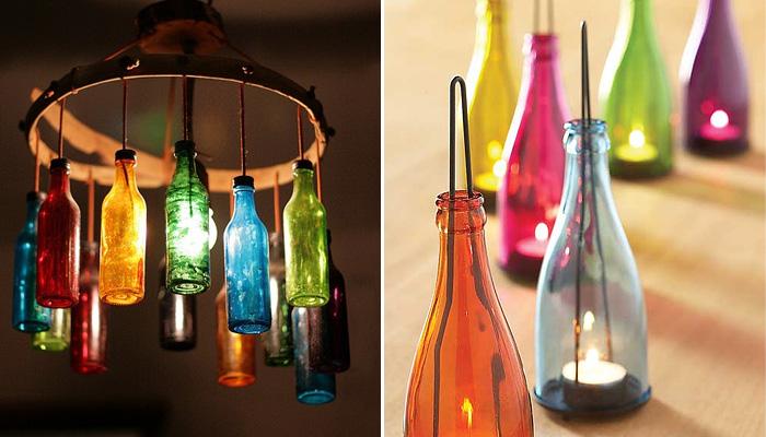 Простые и доступные идеи декора из винных бутылок.