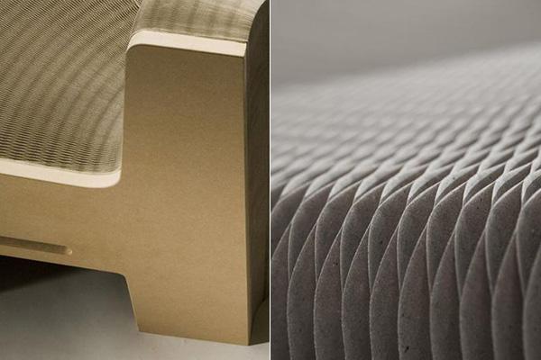Уникальная сотовая структура дивана.