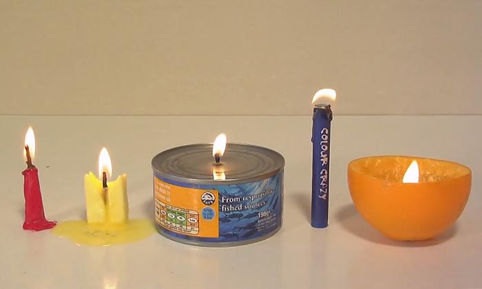Свечи из подручных средств, которые выручат в чрезвычайных ситуациях.