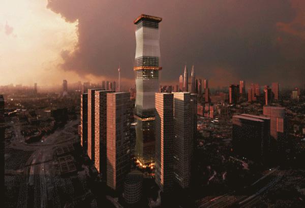 Equator Tower - небоскреб 'раздевается'.