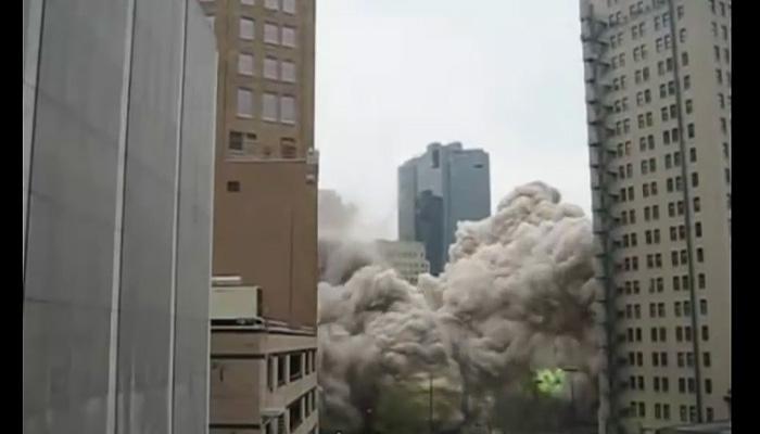 Подрывы и падения домов.