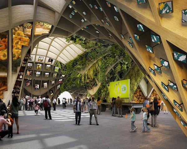 Французский павильон, разработанный для выставки Ехро 2015.