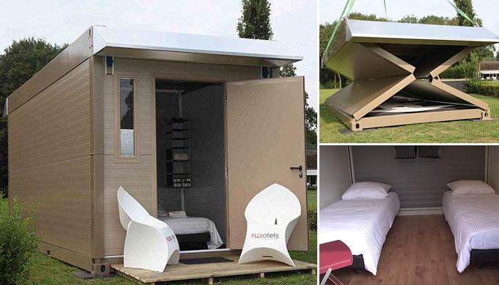 Уникальные раскладные домики, которые можно собрать за считанные минуты.