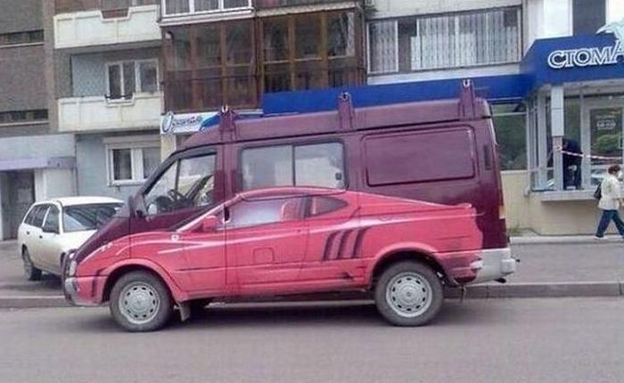 Забавные транспортные средства со всего мира.