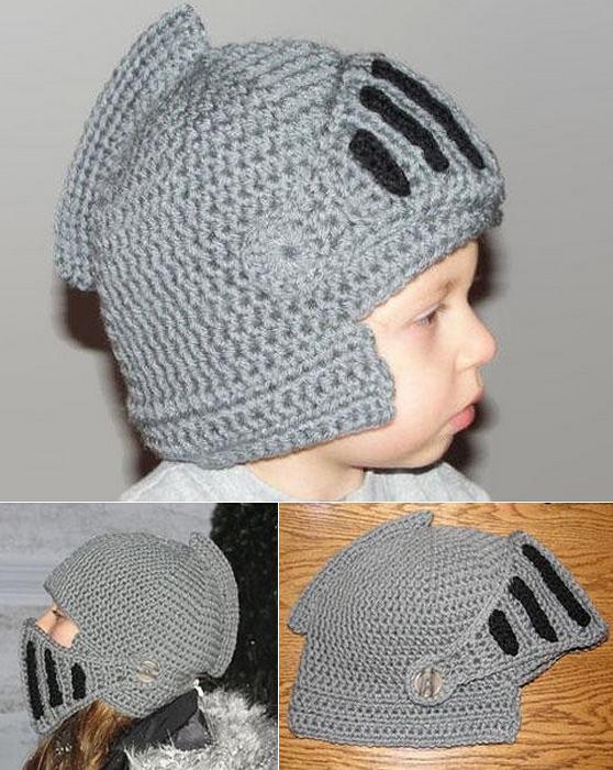 Вязаная шапка - рыцарский шлем.