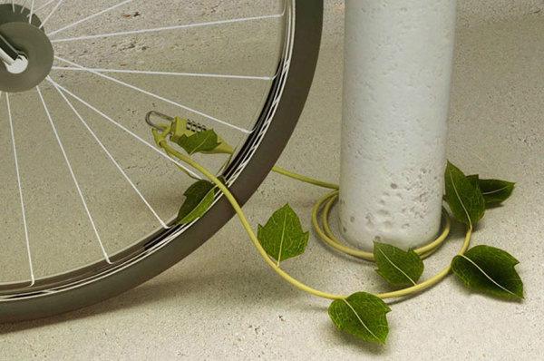 Велосипедный замок-плющ.