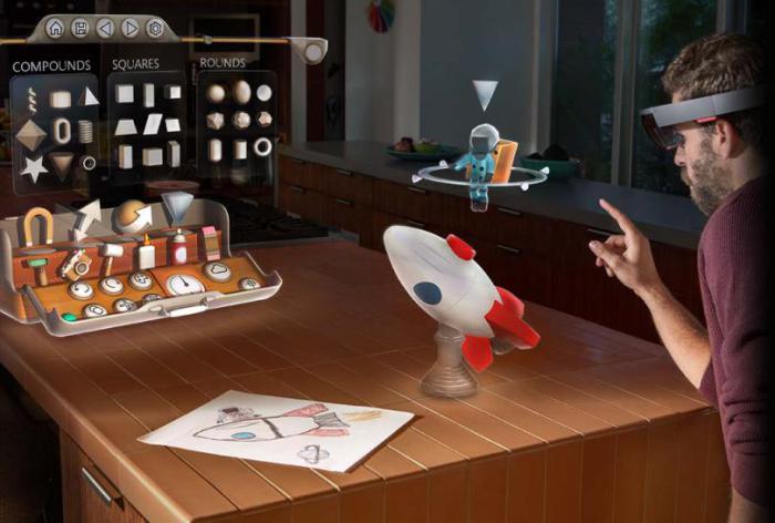 Удивительные очки виртуальной реальности - Microsoft HoloLens.