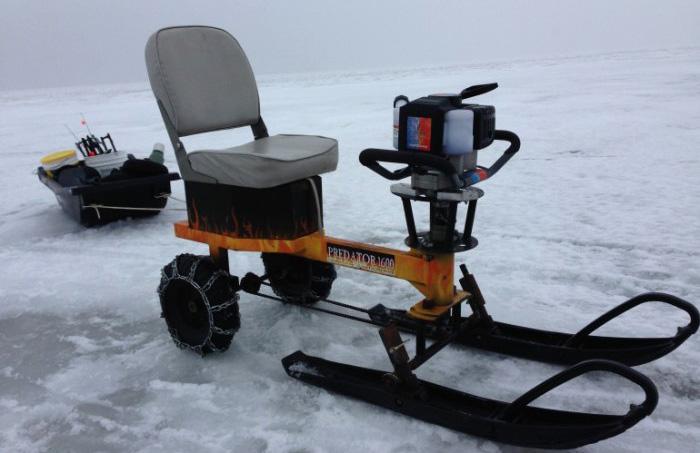Картинг для зимней рыбалки Ice Auger Machine.