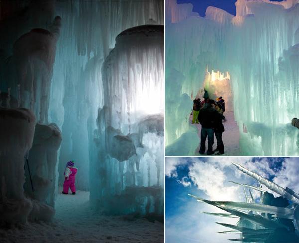 Уникальные ледяные замки-лабиринты в США.