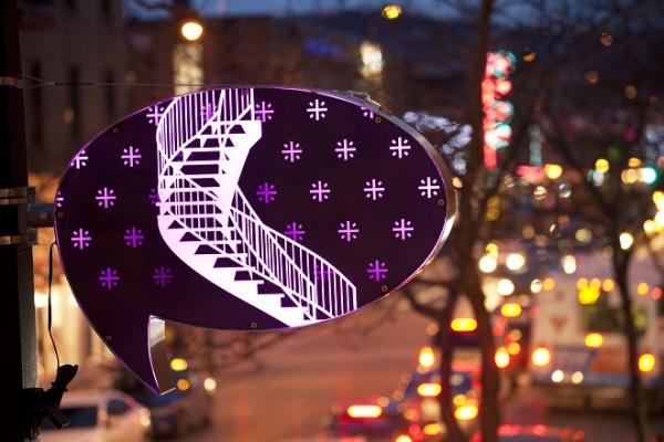 Интересное решение светового оформления улиц.