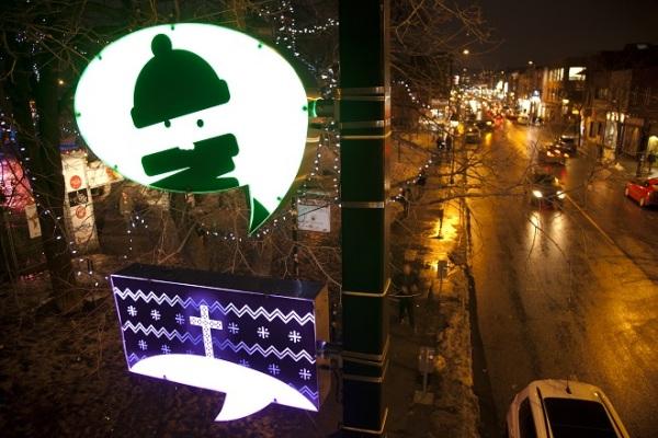 Удивительная иллюминация в Монреале.