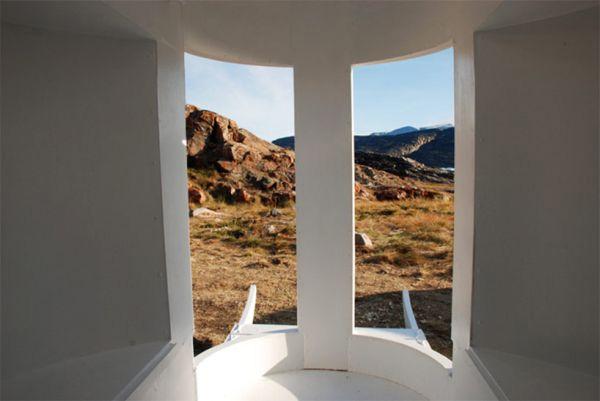 Пейзажный вид изнутри «Санок».