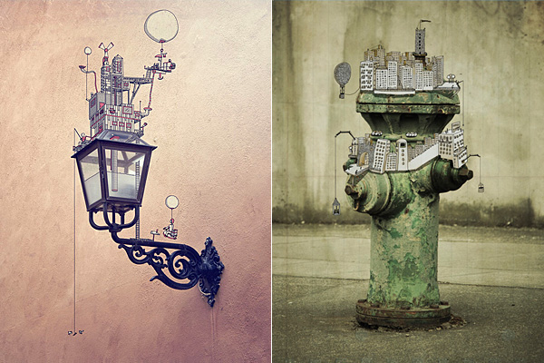 Сюрреалистические иллюстрации поверх цифровых фотографий.