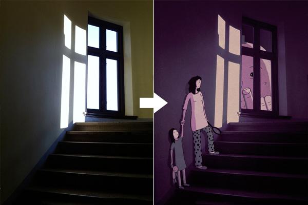 Рисунки по фотографиям от Johan Thornqvist.