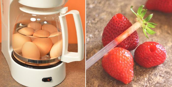 Необычные способы справиться с будничными кухонными задачами.