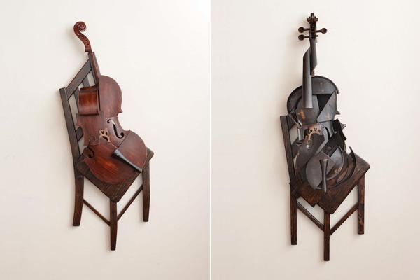 Пространственные композиции из музыкальных инструментов.
