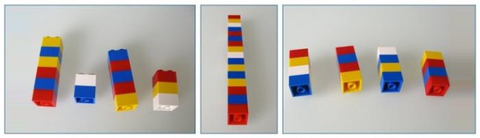 Как объяснить математику на кубиках Lego. Понятие среднего арифметического.