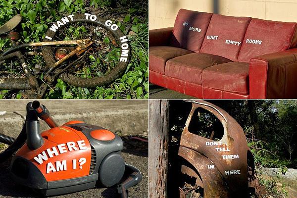 Серия работ, призывающая соблюдать чистоту в городе.