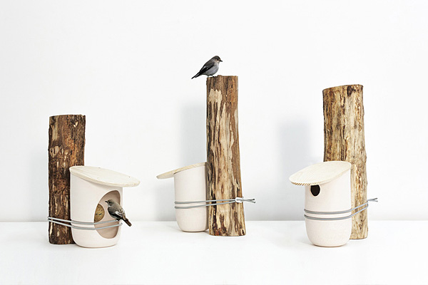 Проект скворечника и кормушки от дизайн-студии Pygmalion.